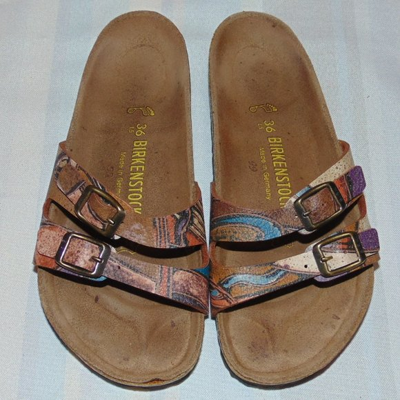 Birkenstock Art Leather Sandals size 5/5.5 & 36EU